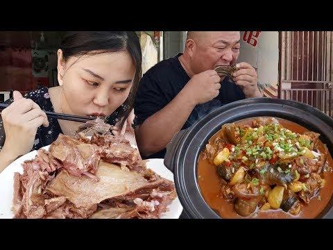 安徽肥東吃沛縣黿汁狗肉,鹵狗排68元一斤,一早上吃了400元,太奢侈【饞貓探店】