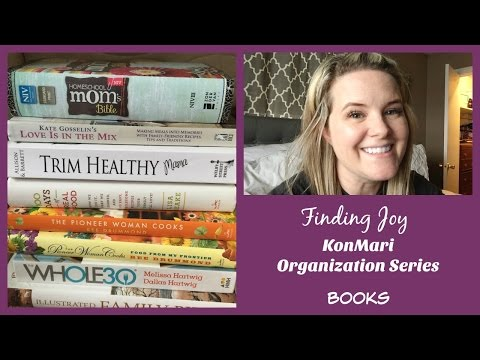 Finding Joy || KonMari Organization || Books