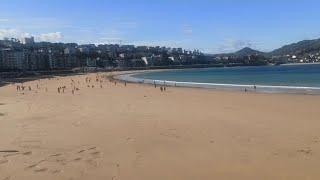 Viento sur en la playa de La Concha