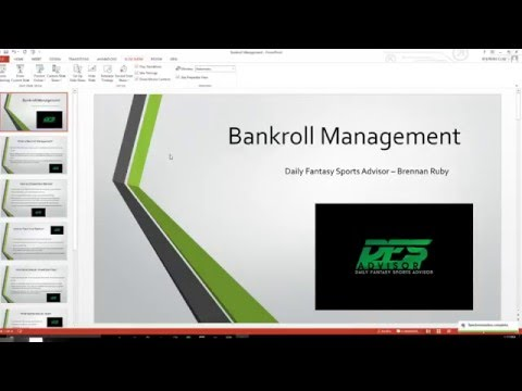 Daily Fantasy Sports Bankroll Management Tutorial