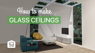 How to make glass ceilings with Planner 5D