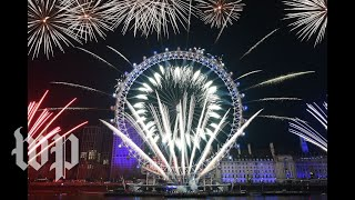 Watch fireworks from New Year's Eve celebrations around the world