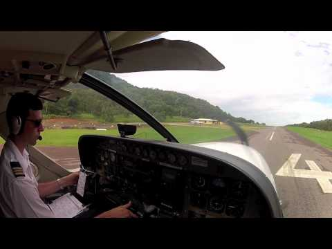 C208b Cessna Grand Caravan Townsville start taxi take off, flight to Palm Island and return