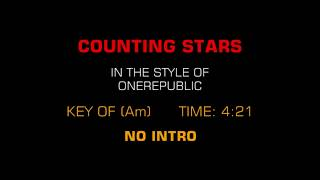 One Republic - Counting Stars Karaoke [Without Vocal]