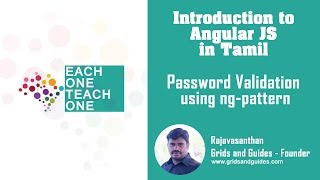 password validation with ng pattern introduction to angular in tamil e1t1