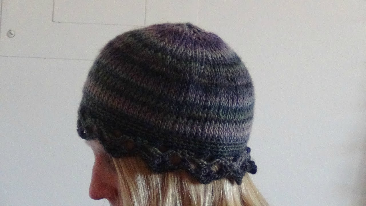Crochet a Hat in Tunisian Knit Stitch Part 1 - YouTube