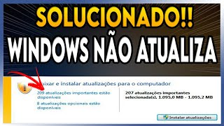 Windows Update não atualiza - RESOLVIDO 100%