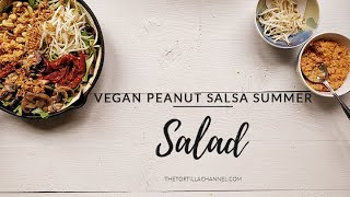 Vegan peanut salsa salad recipe