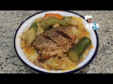 Fish And Vegetable Couscous || Couscous Au Poisson Et Au Légume