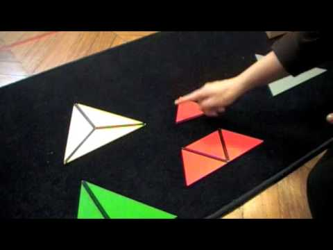 Montessori - Sensorial - Visual Sense - Constructive Triangles -Triangular Box