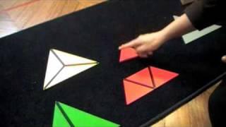 Montessori - Sensorial - Visual Sense - Constructive Triangles -Triangular Box thumbnail