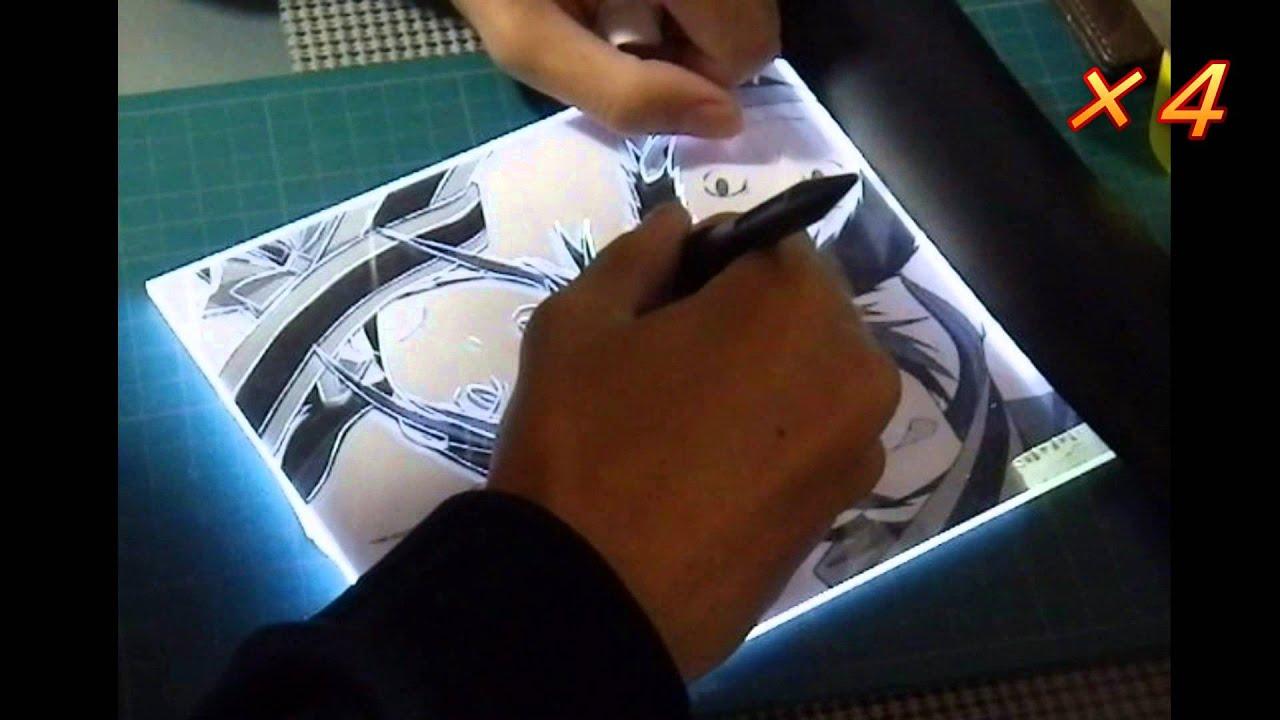 アクリル板で夜桜四重奏を彫りました Youtube