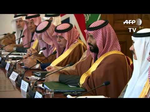 Theresa May meets Saudi crown prince at 10 Downing Street