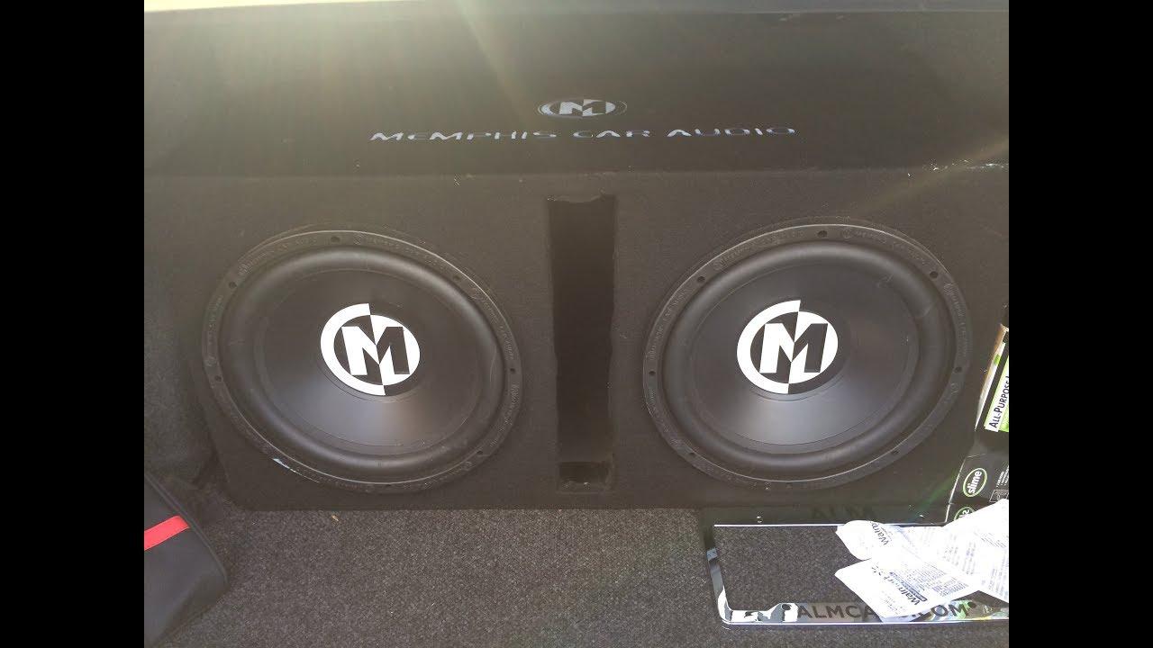 2 memphis 12s on memphis 250 watt amp trunk setup youtube 2 memphis 12s on memphis 250 watt amp trunk setup