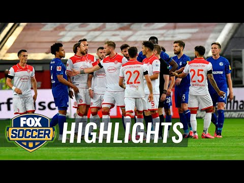 Kenan Karaman header gives Dusseldorf a 2-1 win over FC Schalke 04 | 2020 Bundesliga Highlights