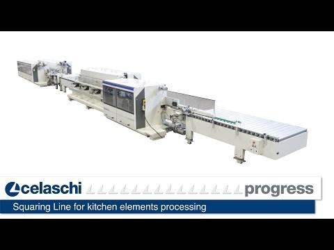 Celaschi - Squaring Line for kitchen elements processing