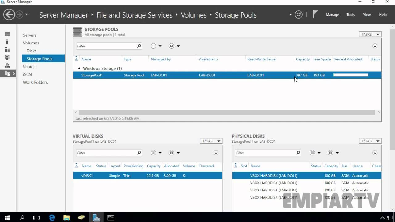 How to add physical disks to existing Storage Pool in Windows Server 2016