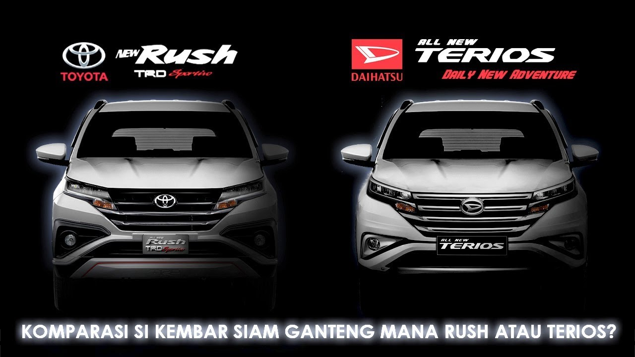 Terios 2018 Interior >> Rush 2018 VS Terios 2018 , Kembar Siam SUV Jaman Now ! - YouTube