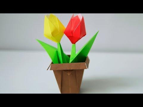 DIY 25   🏺 Origami Flower Pot  🏺 -  Simple and easy (Keiji Kitamura)
