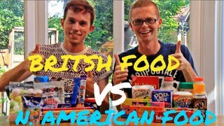 AMERICAN VS. BRITISH FOOD CHALLENGE | RyanThomasWoods