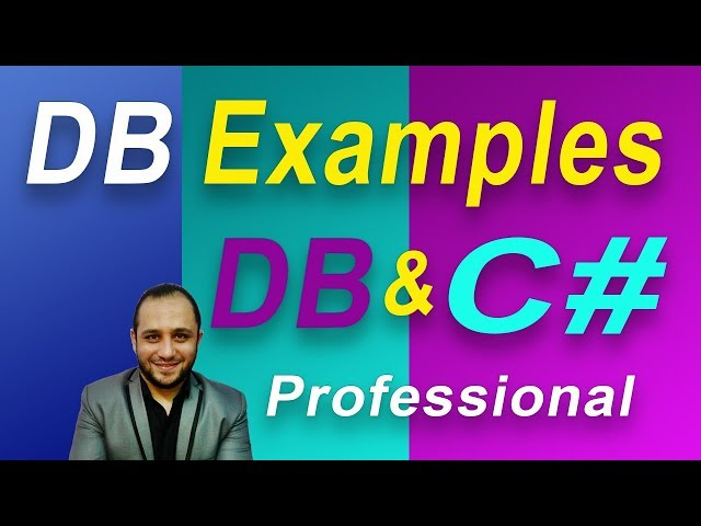 #748 C# برنامج المطاعم و الاكل DB Examples Part C SHARP امثلة قواعد البيانات تعليم سي شارب تصميم تقر