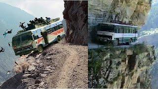 World most dangerous roads, Dangerous trip, Dangerous mountain, Roads untraveled, roadside romeo