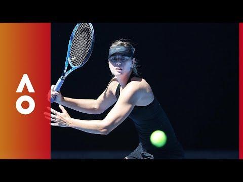 Tennis stars hit the courts | Australian Open 2018
