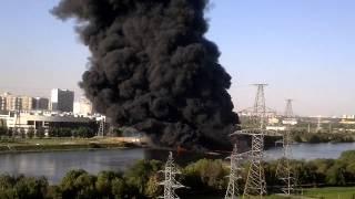 Пожар в Марьино на Москва-реке