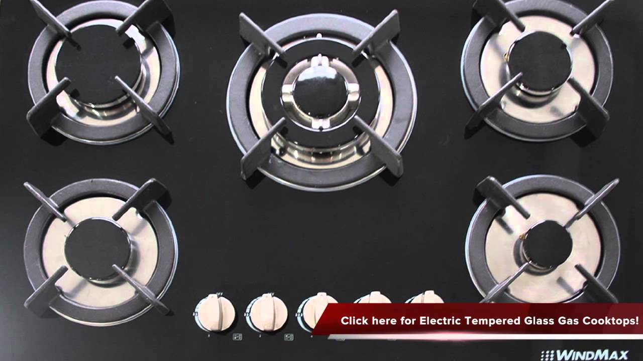 electric tempered glass built in kitchen 5 burner oven gas cooktops review