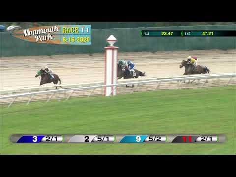 video thumbnail for MONMOUTH PARK 08-16-20 RACE 11