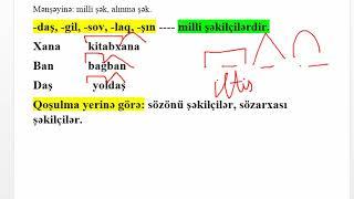 Söz yaradıcılığı - sözün təhlili | leksik, qrammatik şəkilçilər.
