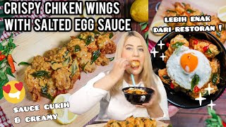 COOKING WITH TASYI : EP 04 - RESEP CRISPY CHIKEN WINGS with SALTED EGG SAUCE ( SAUS TELUR ASIN ) thumbnail