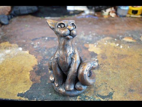 DIY Cat Sculpture In Polymer Clay