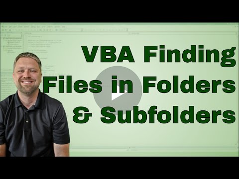 VBA Code to quickly Find All files within a folder and sub