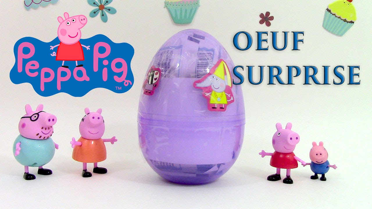 Peppa pig oeuf surprise jouets p te modeler clay buddies youtube - Jouet peppa pig carrefour ...
