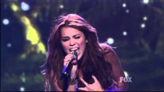 Miley Cyrus- When I Look At You Live on American Idol