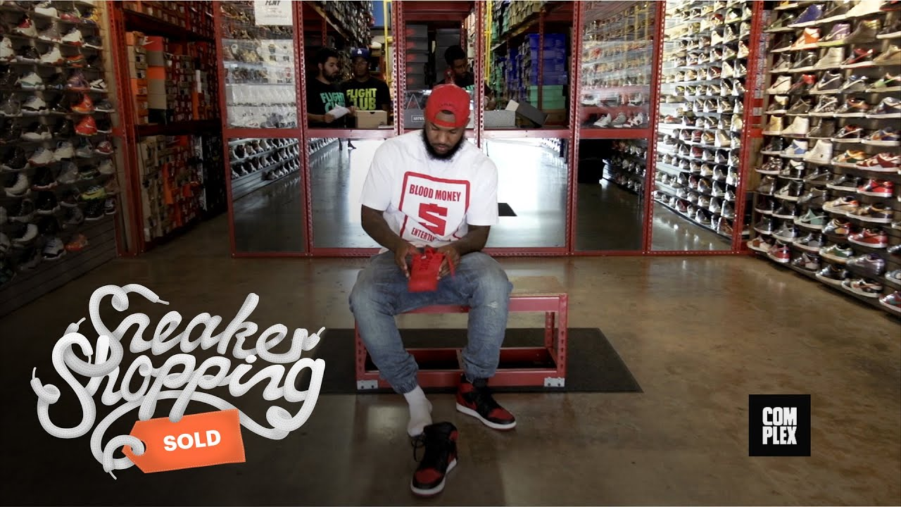 the game goes sneaker shopping with complex youtube