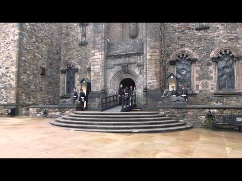 Changing of the Guard at Edinburgh Castle's Scottish National War Museum
