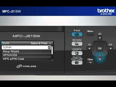 Win7 - Setup my Wireless Brother inkjet All-in-one with a router that uses  security  MFC-J615W