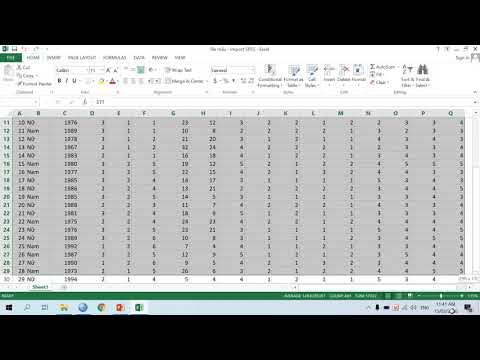 Hướng dẫn sử dụng phần mềm SPSS - Video 4. Chuyển dữ liệu từ file Excel thành file SPSS
