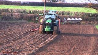 Busy Farm in November! - Six Tractors and a BigM.