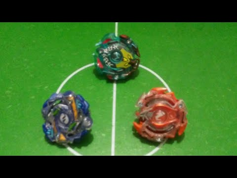 Beyblade Burst- Hyrus H2, Ifritor l2, and Minoboros M2 (Battle)