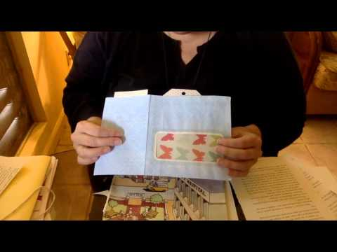 Making pockets for your Junk Journal & a library card pocket Tutorial