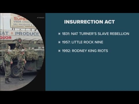 What is the Insurrection Act of 1807?