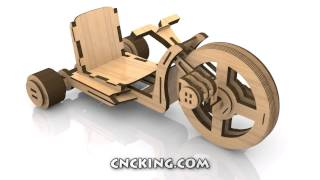 Wooden Big Wheels: 3d Assembly Animation