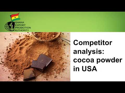Ghana Competitor Analysis - Cocoa Powder in USA (2017)