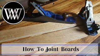 How To Joint a Board Without a Jointer   Hand Tool Woodworking Skill