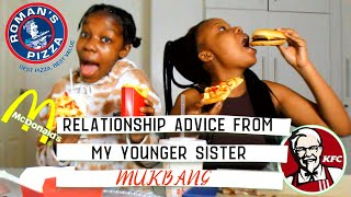Dating advice from my younger sister | MUKBANG ft Ghost guy | South African YouTuber