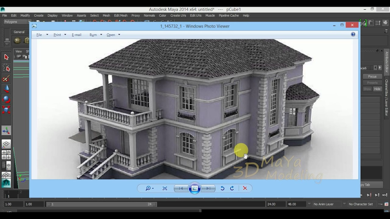 How to model house maya 2016 tutorial architectural for Autodesk online home design