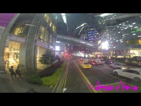 Riding the number 65 bus thru Orchard Road, Singapore (Full-HD)